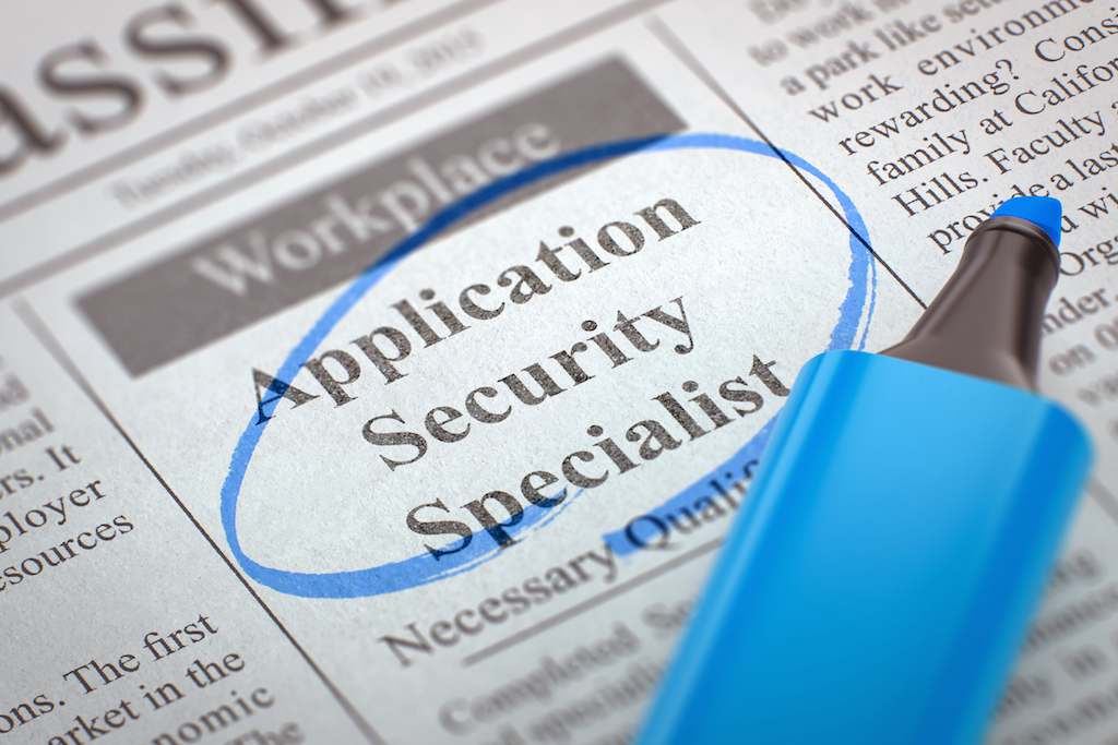 1st class protection application security specialist role advert in paper